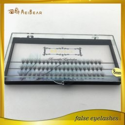 Manufacturer supply faux mink volume eyelash extensions with customized box
