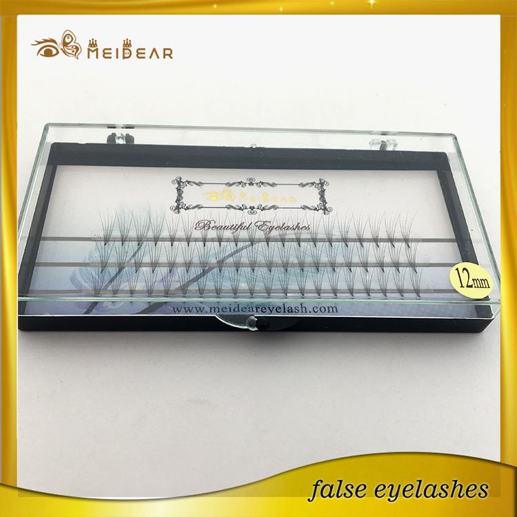 Distributor supply OEM service pre-fanned volume individual false eyelashes