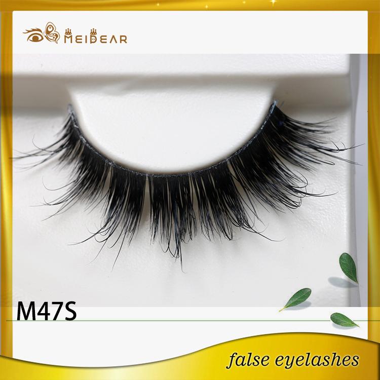 Custom made eyelashes mink raw material manufacturer supply