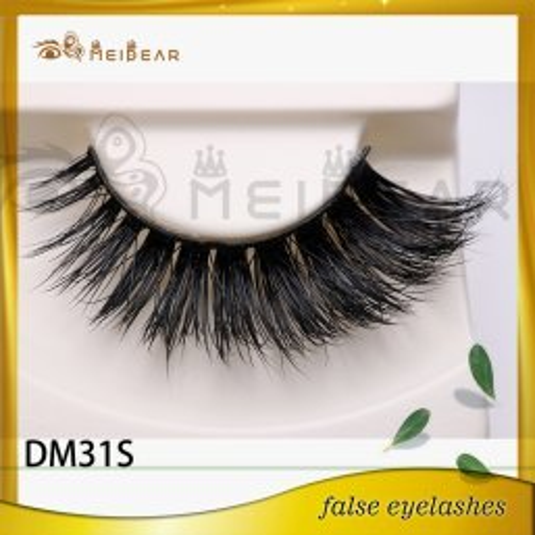 Distributor handmade vegan 3d mink eyelashes like mink design