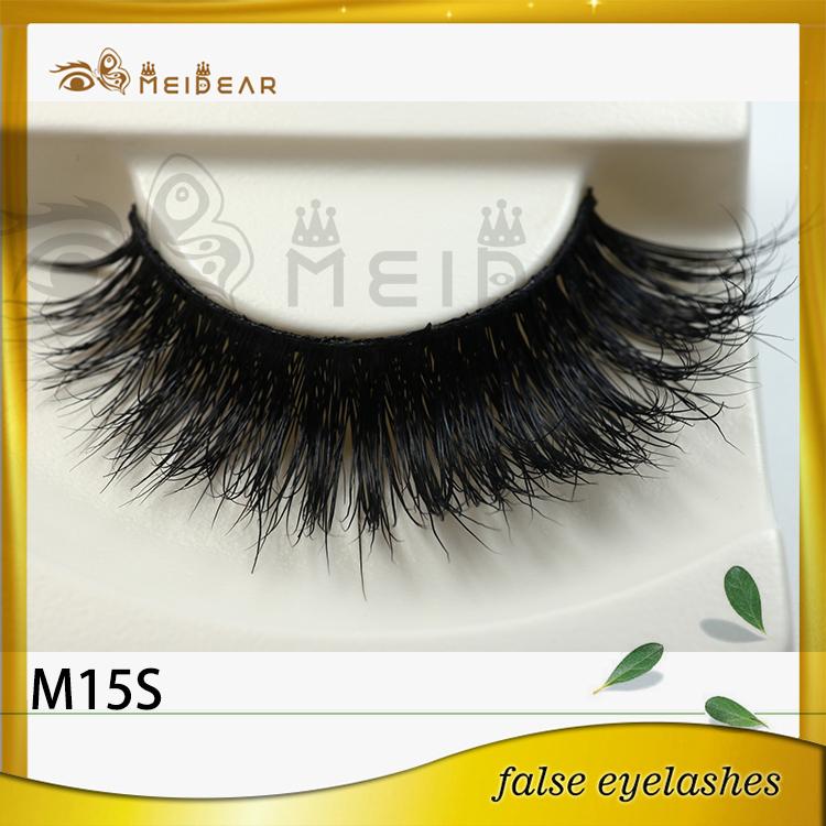 Private label hand made mink false eyelashes manufacturer indonesia