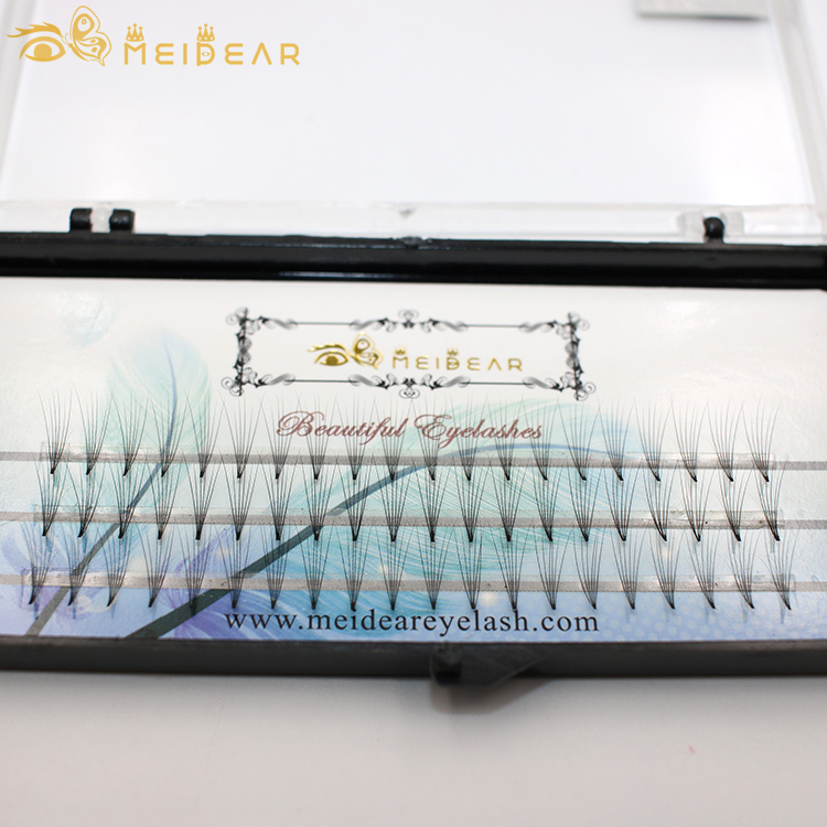 Distributor provide handmade volume eyelash extension clusters with private label