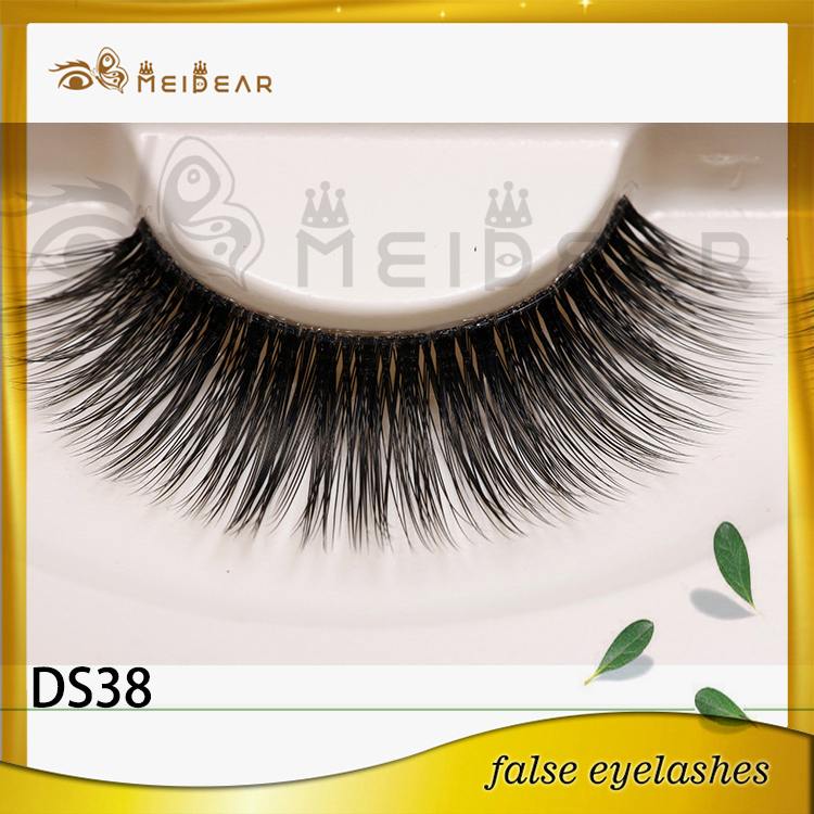 False eyelash factory supply natural looking 3d silk eyelashes