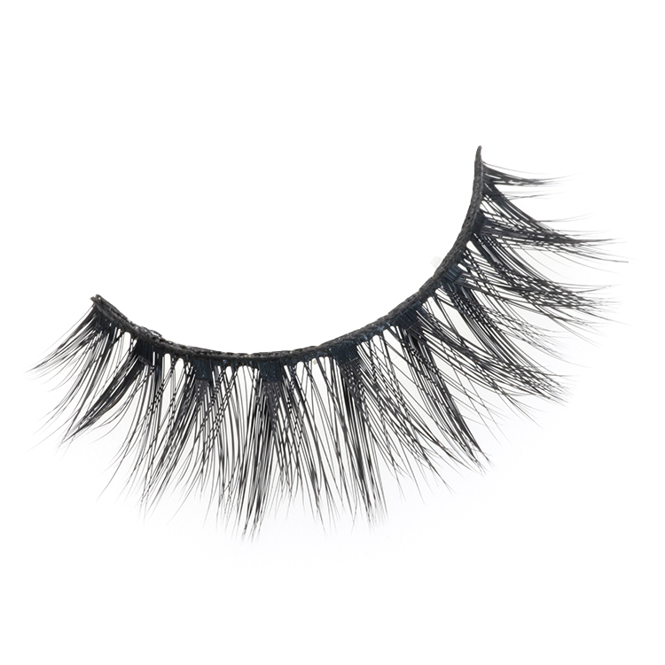 Glamorous fluffy 3D faux mink strip false lashes with own brand packaging box