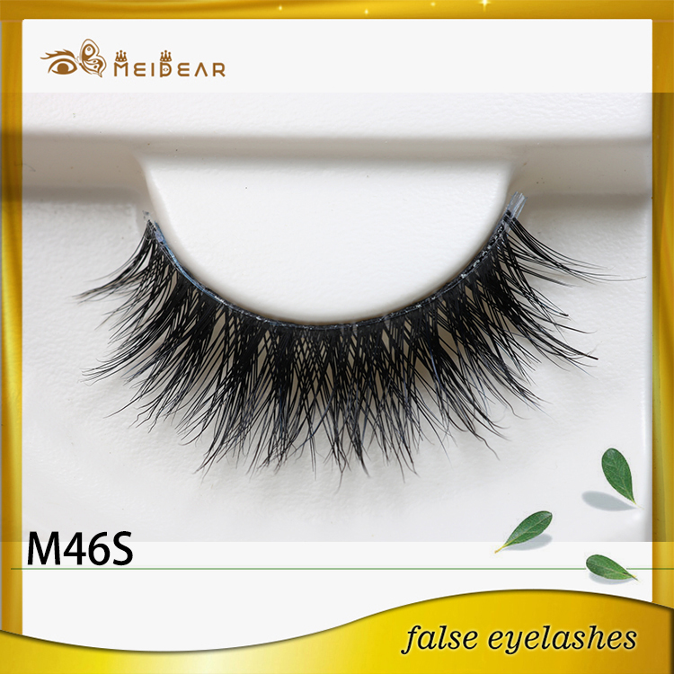 Hand made custom mink eyelashes supply indonesia