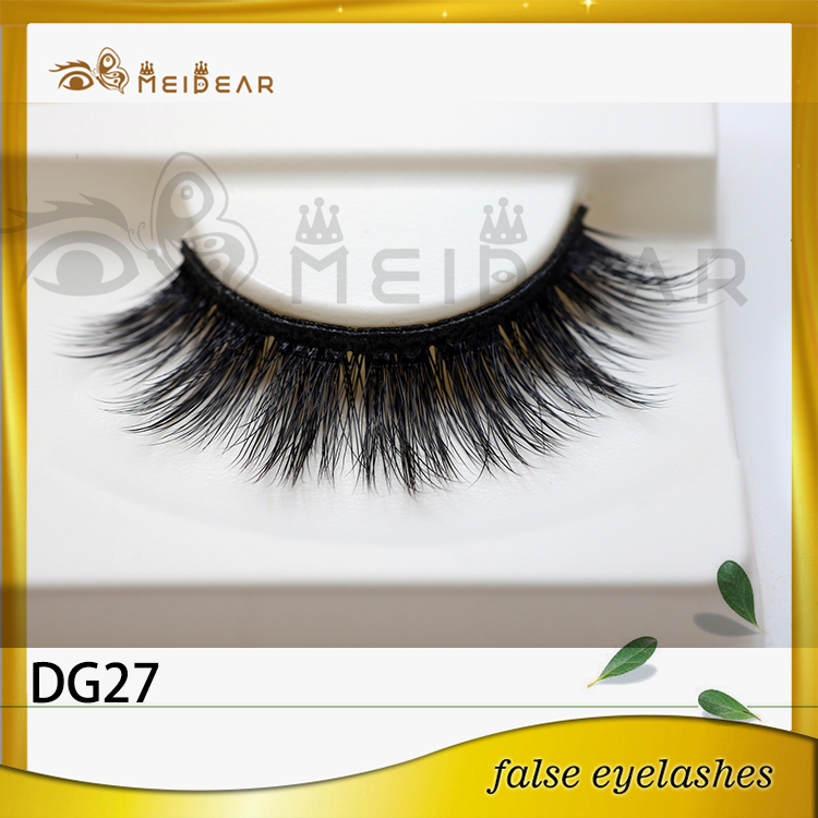 Hand made false eyelash faux mink fur lashes siberian
