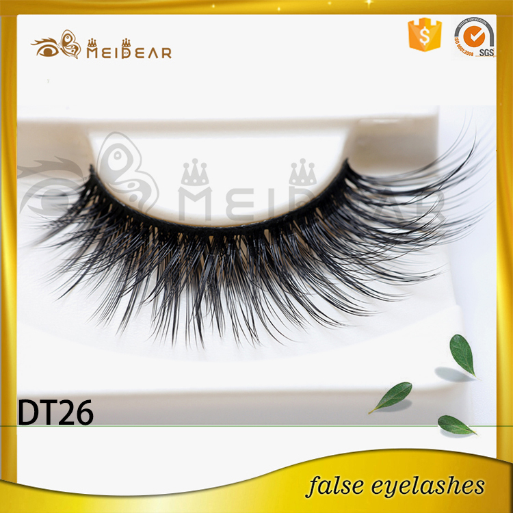 Most popular high quality handmade mink eyelash with magnetic custom box
