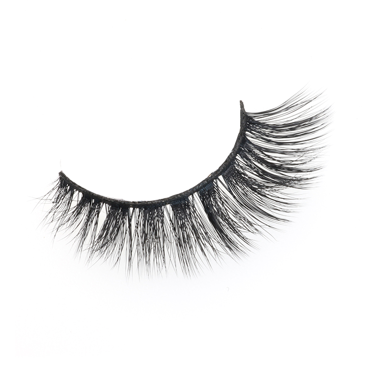 Premium 3D faux mink strip false eyelash with private label packaging box