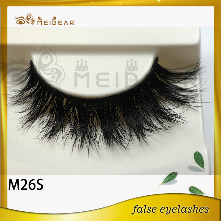 Private label hand made false mink eyelashes distributor indonesia