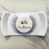 Handmade human hair strip eyelashes