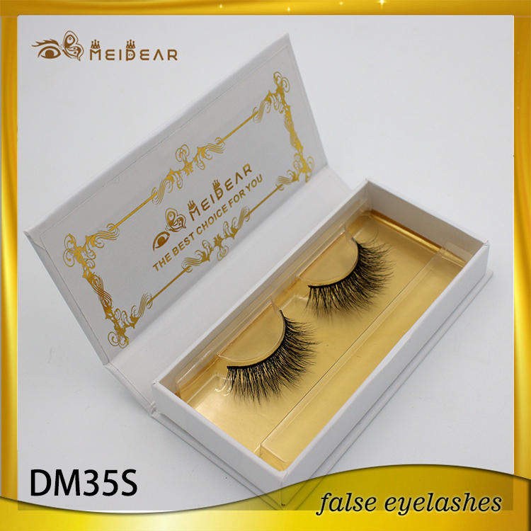Whole natural long handmade private label mink lashes