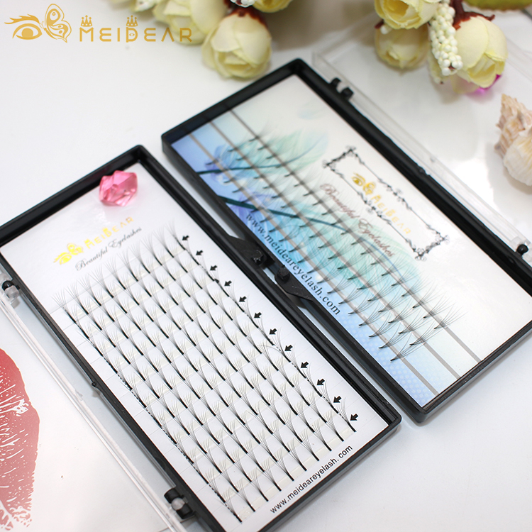 ODM handmade pre made volume eyelash extension thickness 0.05 0.10 0.15 with custom logo design
