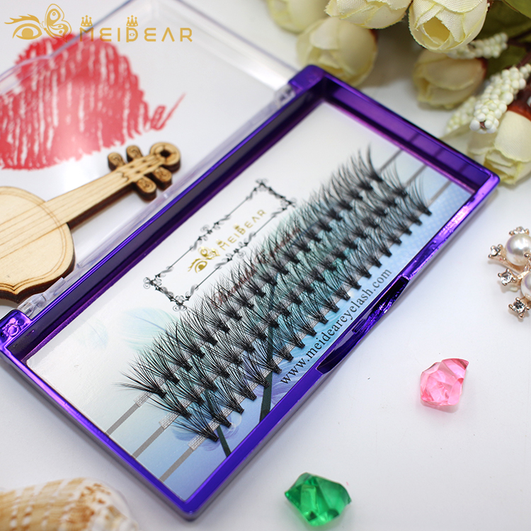 Most soft and natural thickness 0.05 0.10 0.15mm long stem style pre-made volume eyelash extension