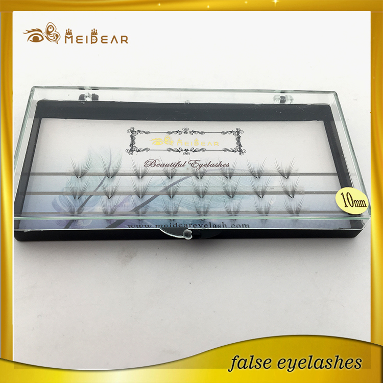 Factory offer best quality striking pre-fanned volume lashes extension and custom box service