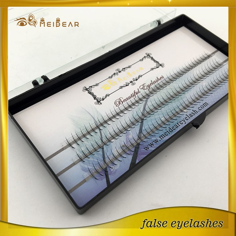 Most cheapest russian volume lashes with custom box OEM service