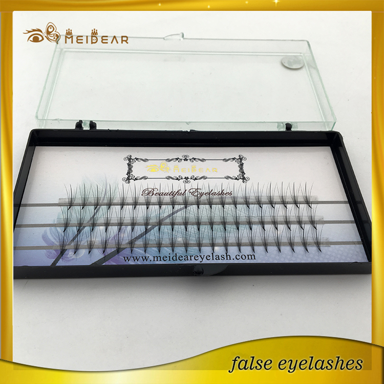 Custom eyelash packaging pre-fanned volume eye lashes extension