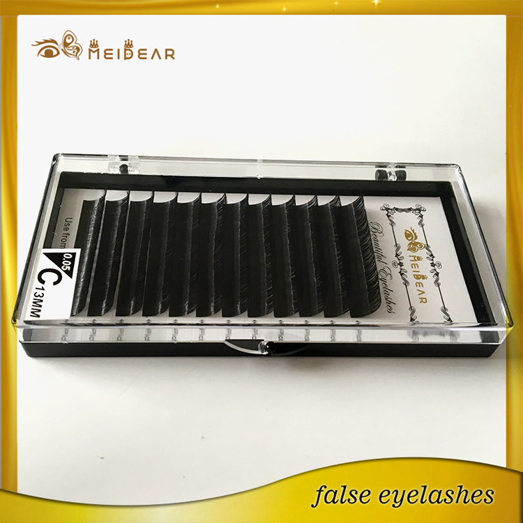 cce3c7bb7b4 Custom lashes packaging Curl B thickness 0.15 silk individual lash extension