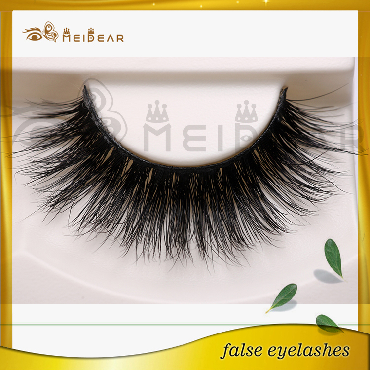 Top Quality Private Label Natural Looking 3D Real Mink Fur Eye Lashes