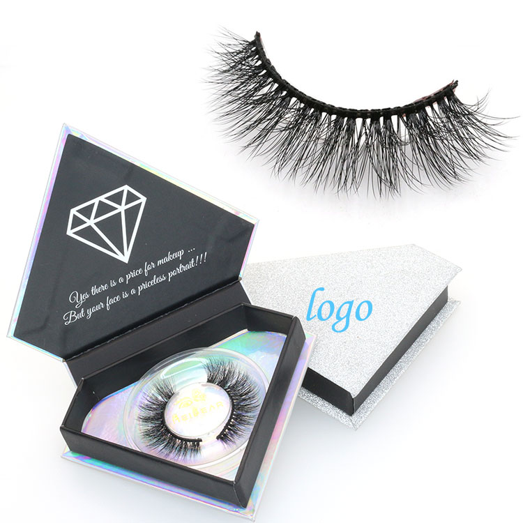 3701d4966f1 Eyelashes suppliers provide private label 3D faux mink lashes with custom  packaging box