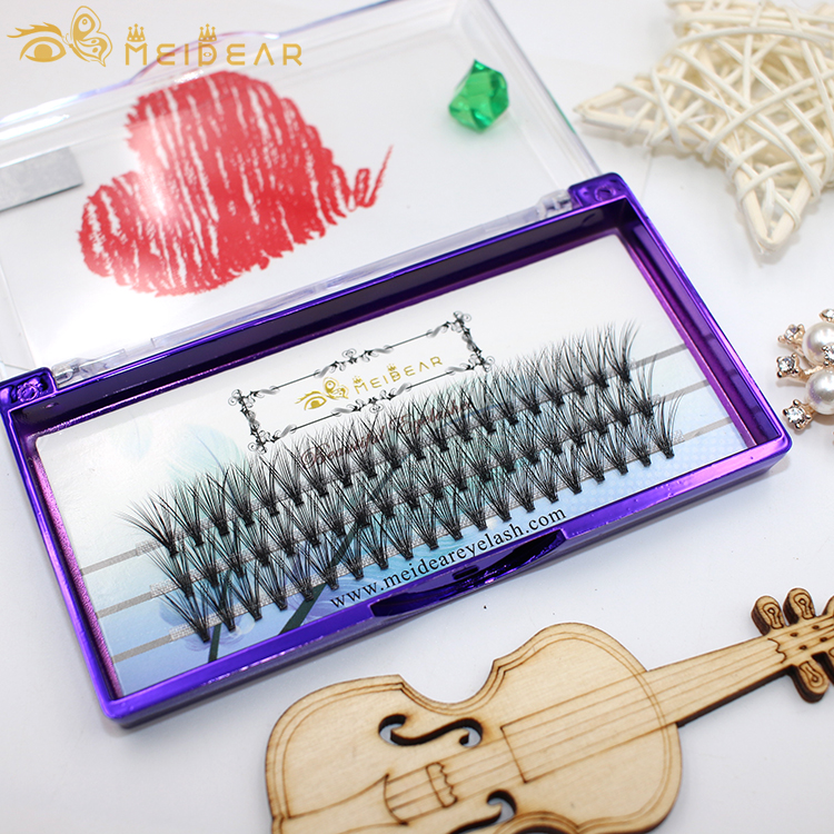 Best eyelash wholesaler supply handmade volume eyelash extension clusters curl C