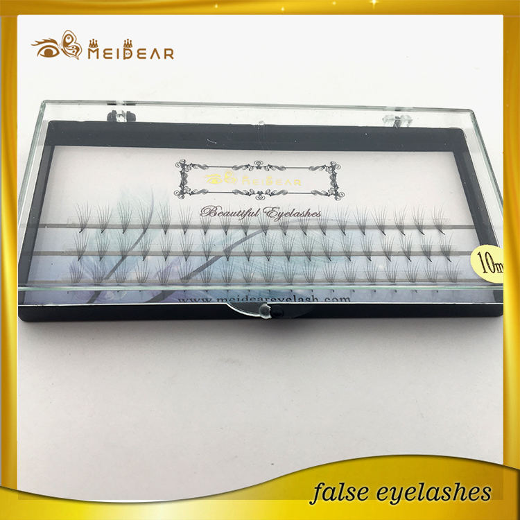 Distributor supply OEM service pre-fanned volume individual false eyelashes