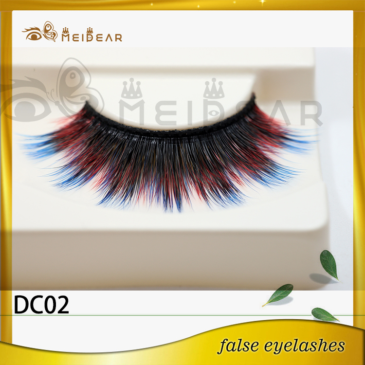 Hot selling private label colored mink eyelashes with wholesale