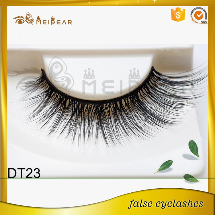 Hand crafted natural and high quality  faux mink eyelash with OEM service
