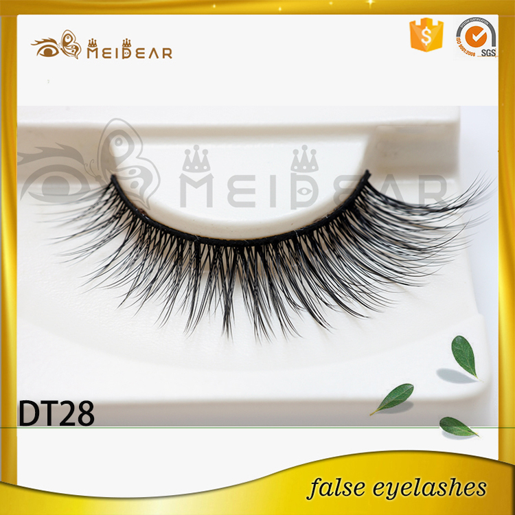 High quality strip faux mink eyelash with custom package