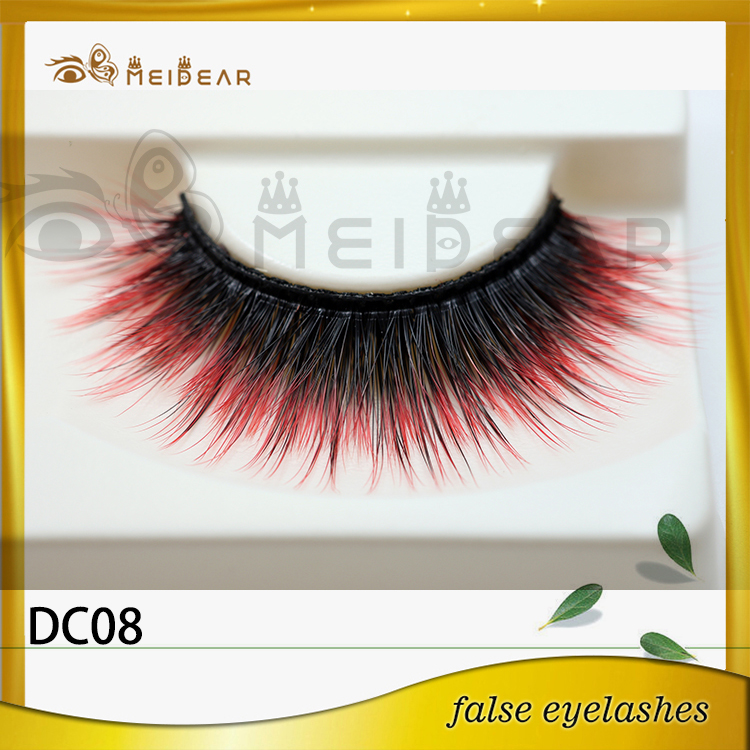 Hot selling private label colored mink eyelashes with wholesale price