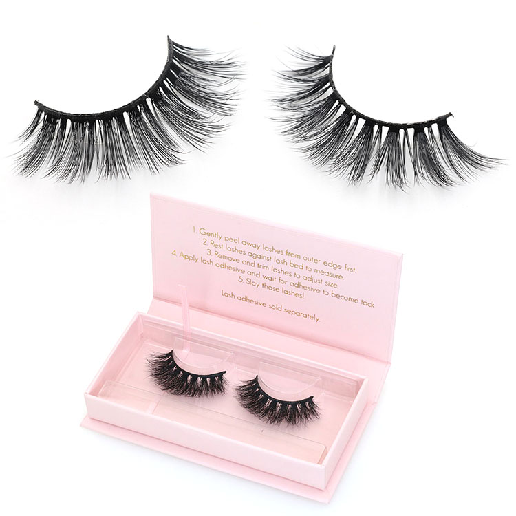 Lashes wholesaler provide 3D silk false eye lashes with custom packaging