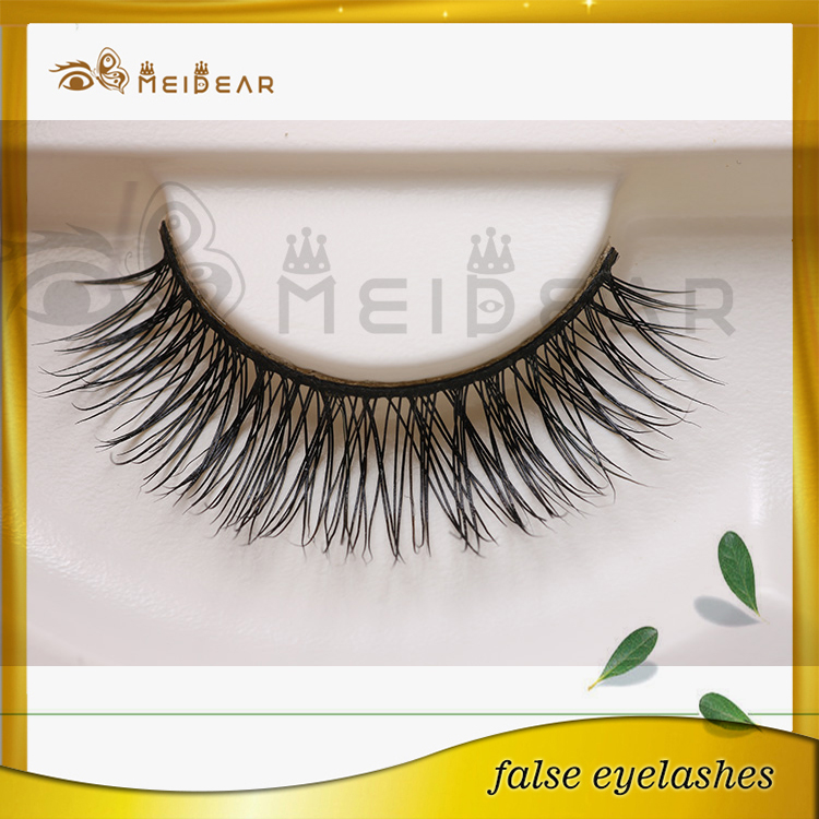 Private label mink strip false eyelash