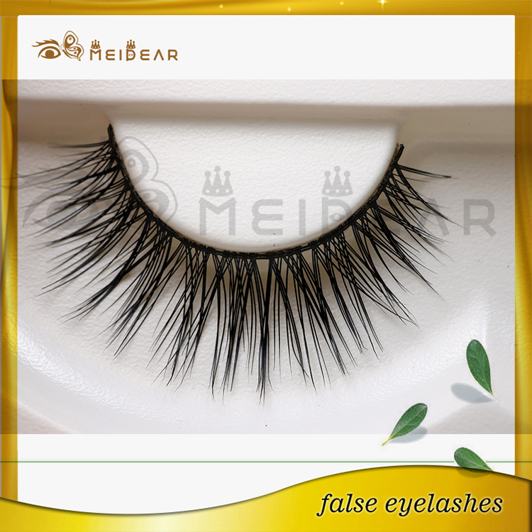 Natural looking fake eyelashes custom packaging private label