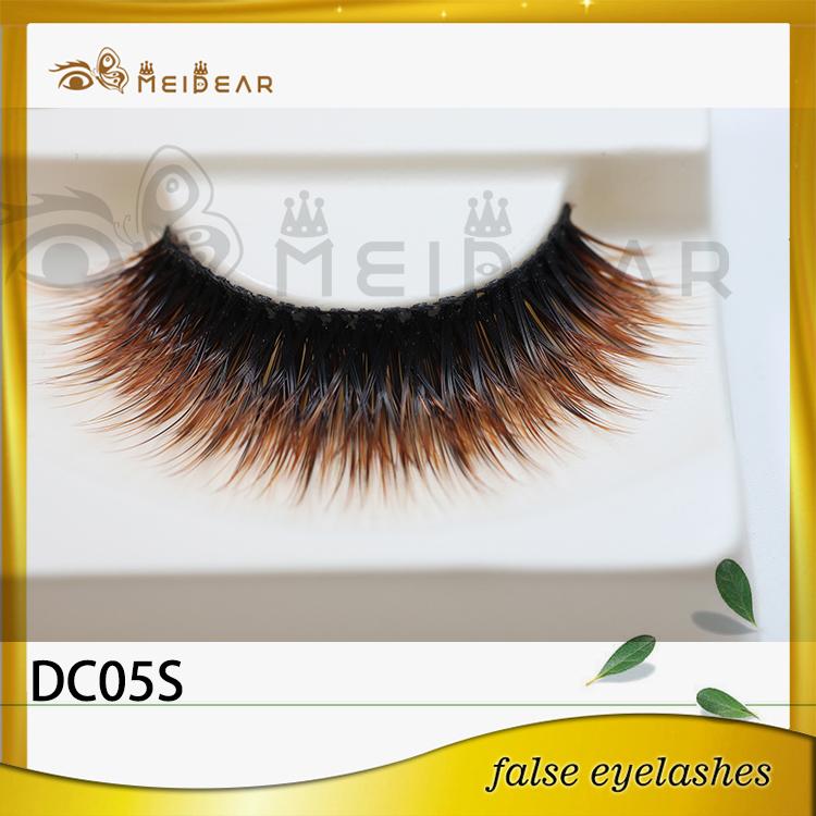 Colored strip false eyelashes,China whoelsale Colored strip false