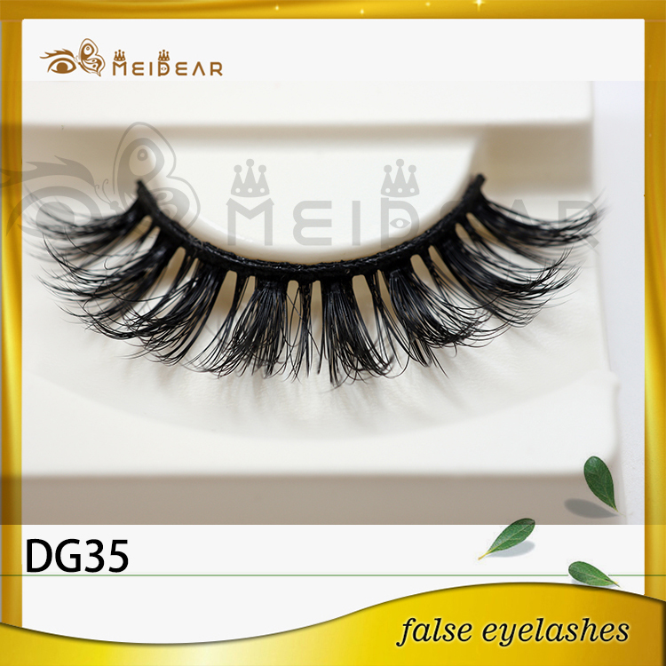 Siberian 3D faux  mink lashes with custom package