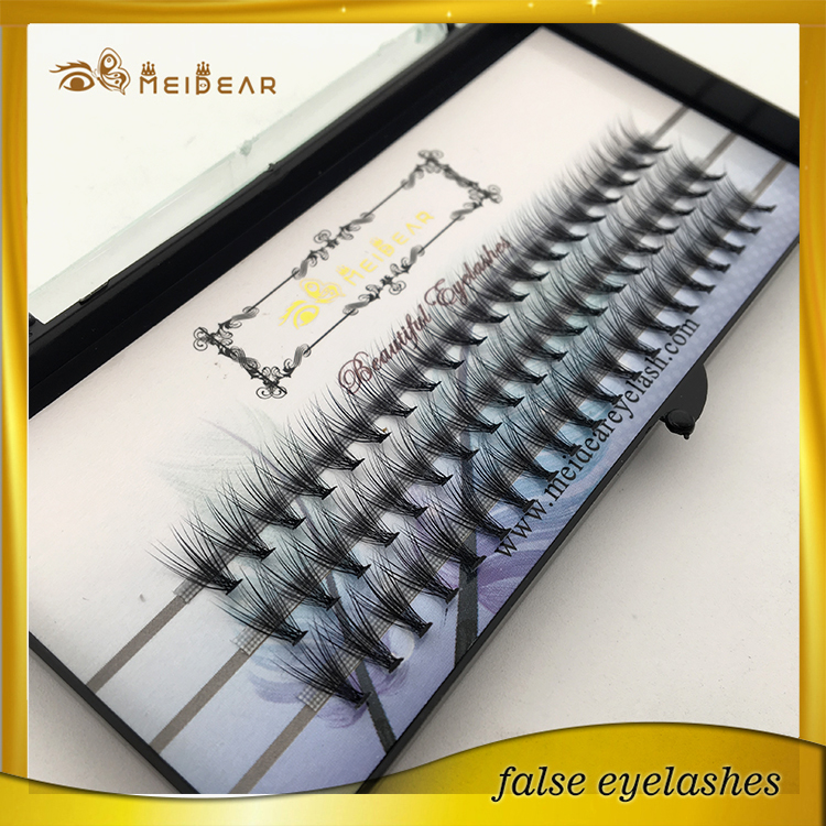 Pre-fanned volume eyelash extension with custom packge and private label USA
