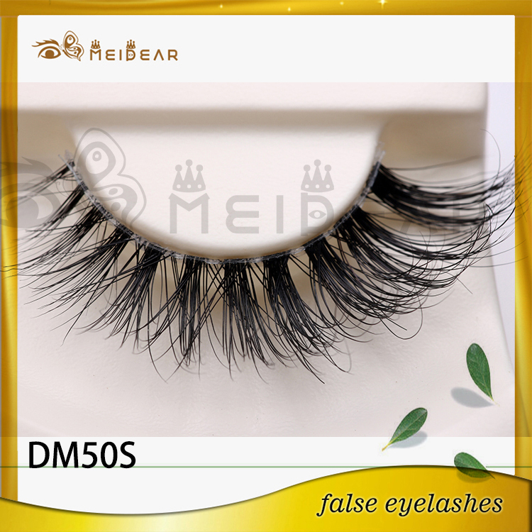 Private Label Natural Looking 3D Real Mink Fur Eye Lashes