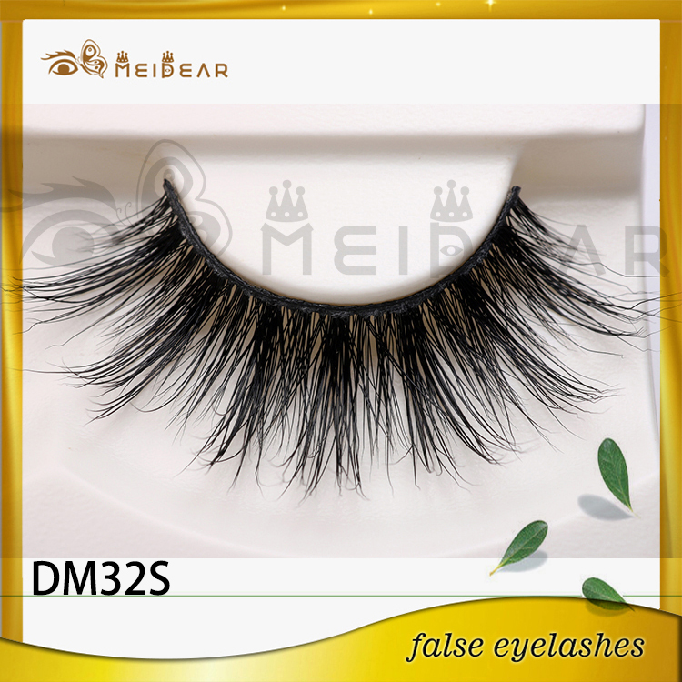 Private label hand made false mink eyelashes USA