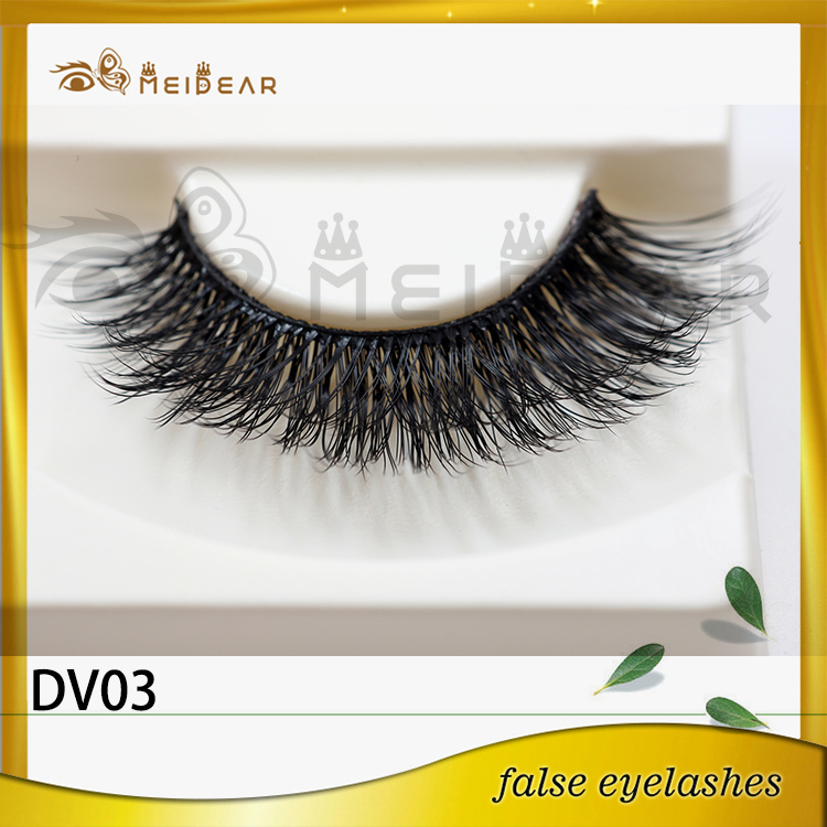 Wholesale dramatic 3d faux mink eyelashes with custom pacakging box
