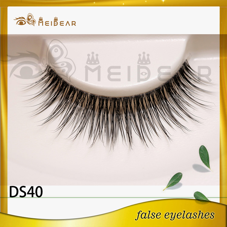 Wholesale dramatic 3d silk eyelashes with custom pacakging