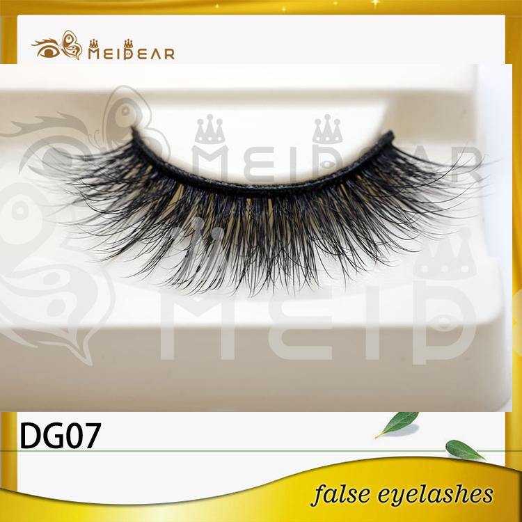 Wholesale natural looking 3D faux eyelashes with custom logo packaging