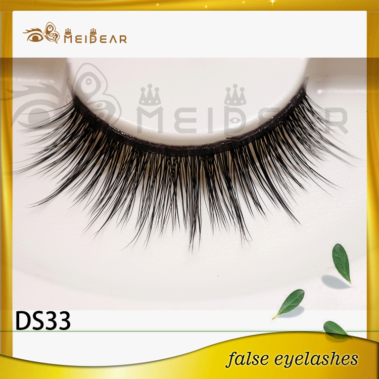 Factory supply private label Korean 3d silk eyelashes