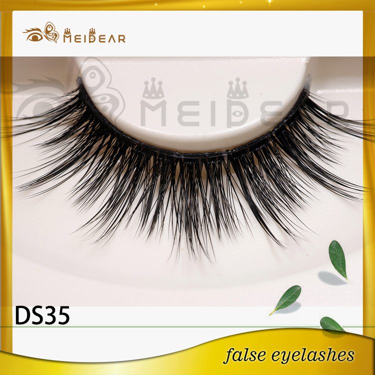 Factory wholesale private label logo 3d silk eyelashes