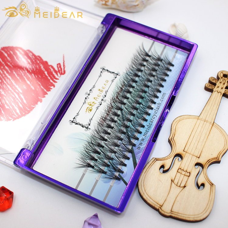 Wholesale custom packaging for premade fans volume eyelash extensions