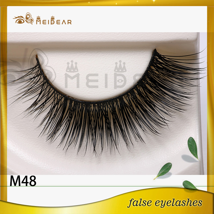 Clear band mink false eyelashes manufacturer supply