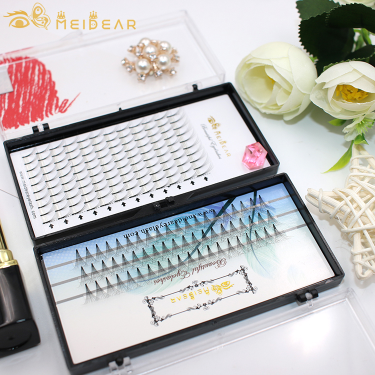 Factory supply best selling volume eyelash extension clusters length 4-20mm