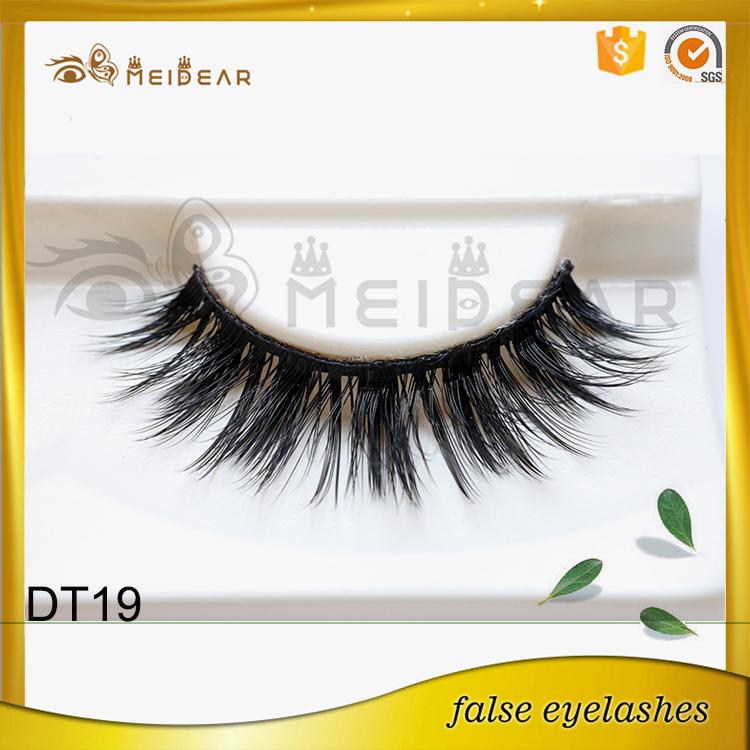 Hand crafted company supply 3d faux mink eyelash with custom box design