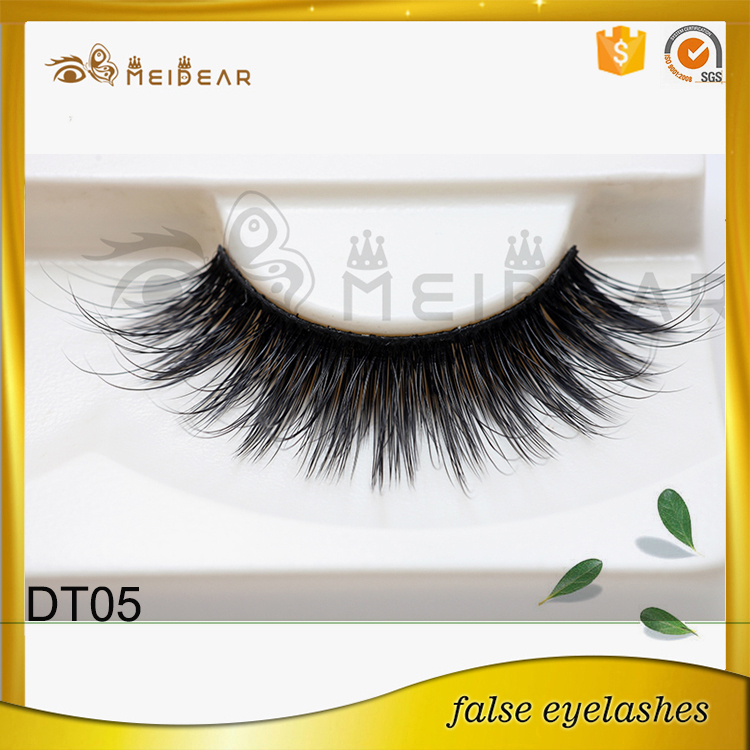 Handmade 3D faux mink eyelash with custom box  cruelty free