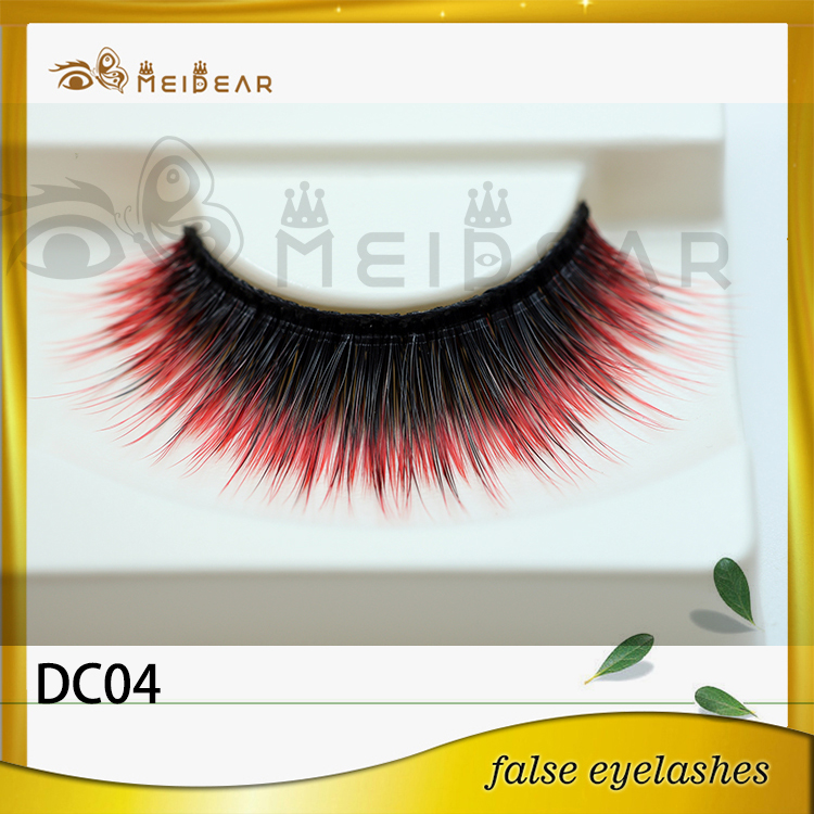 Factory wholesale OEM private label colored strip mink eyelashes hot selling