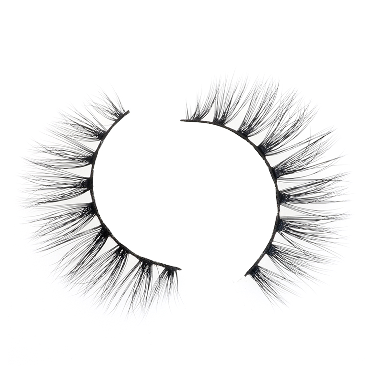 Distributor wholesale false strip eyelash 3D silk lashes with own brand packaging design