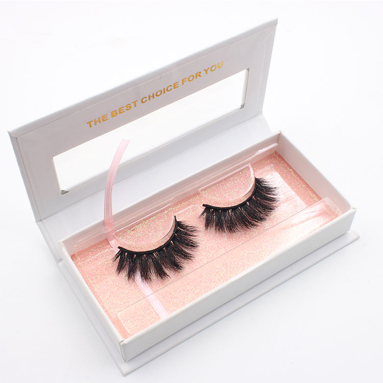 Custom eyelash packaging box for cruelty-free 3D faux mink lashes USA